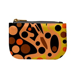Orange Abstract Decor Mini Coin Purses by Valentinaart