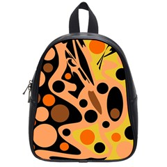Orange Abstract Decor School Bags (small)