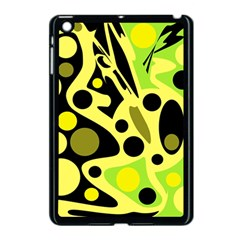 Green Abstract Art Apple Ipad Mini Case (black) by Valentinaart
