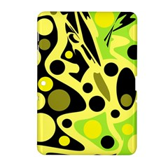 Green Abstract Art Samsung Galaxy Tab 2 (10 1 ) P5100 Hardshell Case  by Valentinaart