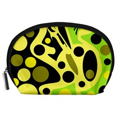 Green Abstract Art Accessory Pouches (large)
