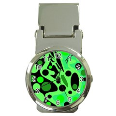 Green Abstract Decor Money Clip Watches by Valentinaart