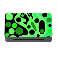 Green Abstract Decor Memory Card Reader With Cf by Valentinaart