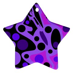 Purple Abstract Decor Star Ornament (two Sides)  by Valentinaart