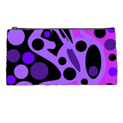 Purple Abstract Decor Pencil Cases by Valentinaart