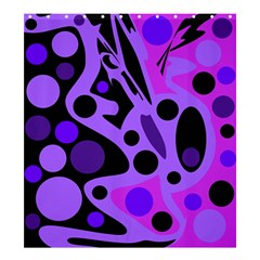 Purple Abstract Decor Shower Curtain 66  X 72  (large)  by Valentinaart