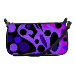 Purple Abstract Decor Shoulder Clutch Bags