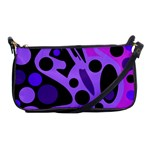 Purple abstract decor Shoulder Clutch Bags Front