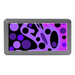Purple Abstract Decor Memory Card Reader (mini) by Valentinaart