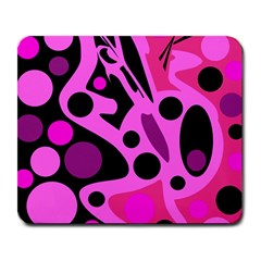 Pink Abstract Decor Large Mousepads by Valentinaart