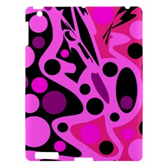 Pink Abstract Decor Apple Ipad 3/4 Hardshell Case by Valentinaart