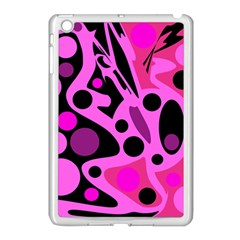 Pink Abstract Decor Apple Ipad Mini Case (white) by Valentinaart