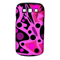 Pink Abstract Decor Samsung Galaxy S Iii Classic Hardshell Case (pc+silicone)