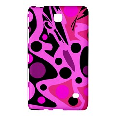 Pink Abstract Decor Samsung Galaxy Tab 4 (7 ) Hardshell Case  by Valentinaart