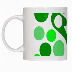 White And Green Decor White Mugs by Valentinaart