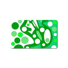 White And Green Decor Magnet (name Card) by Valentinaart