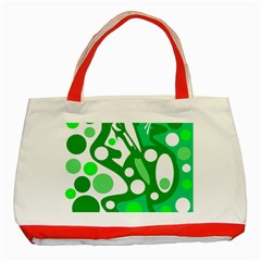 White And Green Decor Classic Tote Bag (red) by Valentinaart