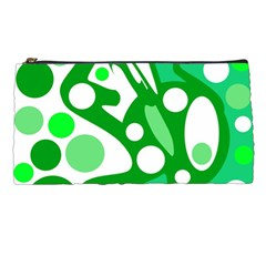 White And Green Decor Pencil Cases by Valentinaart