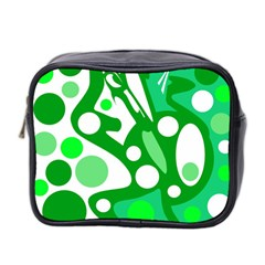 White And Green Decor Mini Toiletries Bag 2 Side by Valentinaart