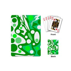 White And Green Decor Playing Cards (mini)  by Valentinaart