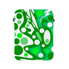 White And Green Decor Apple Ipad 2/3/4 Protective Soft Cases by Valentinaart