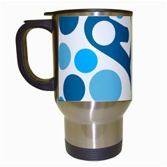 Blue And White Decor Travel Mugs (white)