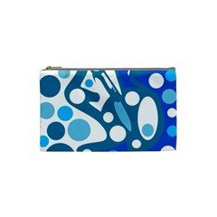 Blue And White Decor Cosmetic Bag (small)  by Valentinaart