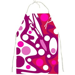 Magenta And White Decor Full Print Aprons by Valentinaart