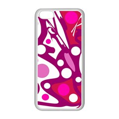 Magenta And White Decor Apple Iphone 5c Seamless Case (white) by Valentinaart