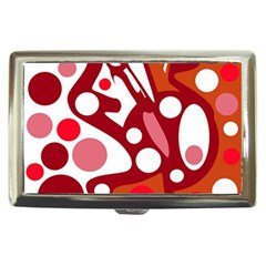 Red And White Decor Cigarette Money Cases by Valentinaart