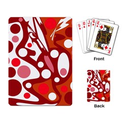 Red And White Decor Playing Card by Valentinaart