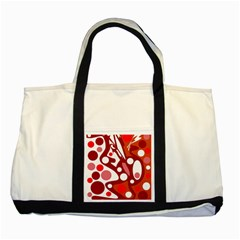 Red And White Decor Two Tone Tote Bag