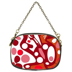 Red And White Decor Chain Purses (two Sides)  by Valentinaart
