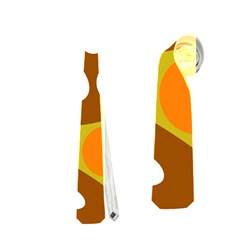 Orange And White Decor Neckties (two Side)  by Valentinaart