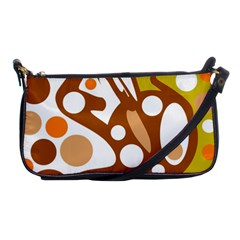Orange And White Decor Shoulder Clutch Bags by Valentinaart