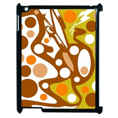 Orange And White Decor Apple Ipad 2 Case (black)