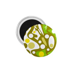 Green And Yellow Decor 1 75  Magnets by Valentinaart