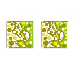 Green And Yellow Decor Cufflinks (square) by Valentinaart