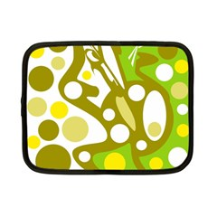 Green And Yellow Decor Netbook Case (small)  by Valentinaart