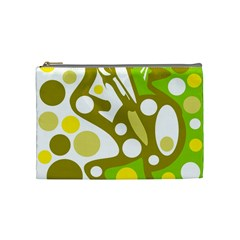 Green And Yellow Decor Cosmetic Bag (medium)  by Valentinaart