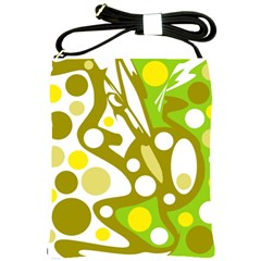 Green And Yellow Decor Shoulder Sling Bags by Valentinaart