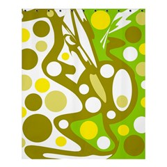 Green And Yellow Decor Shower Curtain 60  X 72  (medium)  by Valentinaart