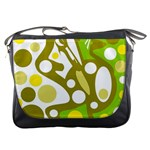Green and yellow decor Messenger Bags Front
