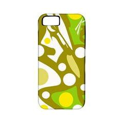 Green And Yellow Decor Apple Iphone 5 Classic Hardshell Case (pc+silicone) by Valentinaart