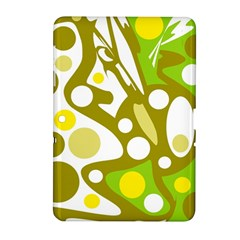Green And Yellow Decor Samsung Galaxy Tab 2 (10 1 ) P5100 Hardshell Case