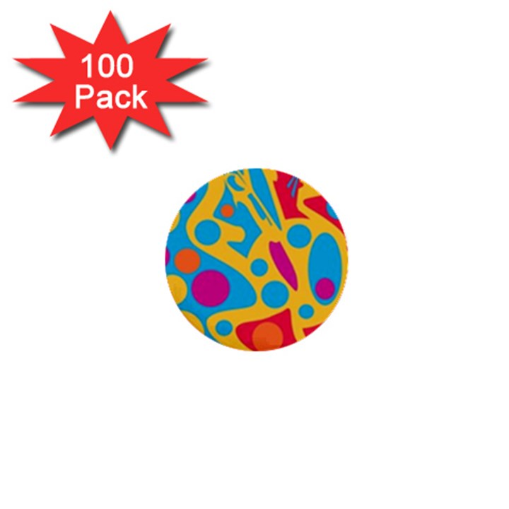 Colorful decor 1  Mini Buttons (100 pack)