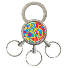Colorful Decor 3 Ring Key Chains by Valentinaart