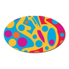 Colorful Decor Oval Magnet by Valentinaart