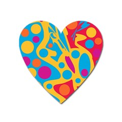 Colorful Decor Heart Magnet by Valentinaart