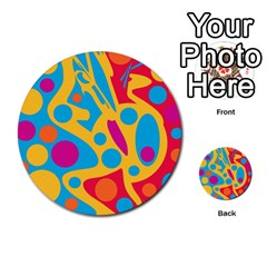 Colorful Decor Multi Purpose Cards (round)